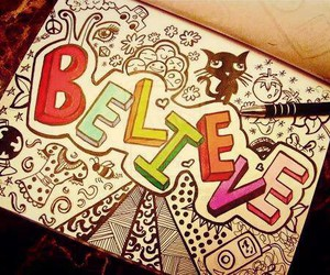 believe, drawing, and draw image