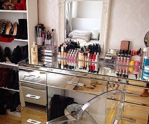 girl, makeup, and room image