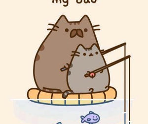 cat, dad, and pusheen image