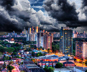 beautiful, clouds, and buildings image