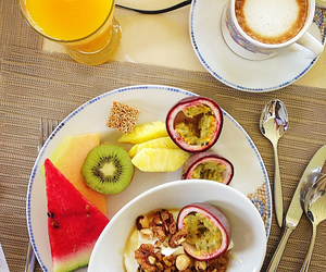 breakfast, color, and fruit image