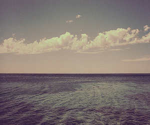 clouds, sea, and photography image