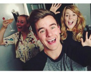 grace helbig, connor franta, and mamrie hart image