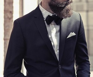 beard, sexy, and suit image