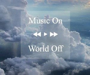 cloud, music, and off image