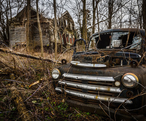 abandoned and car image