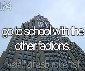 divergent and the initiate bucket list image