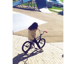 bmx, day, and girl image