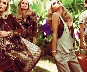 blonde, brown, and fashion image