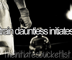divergent, the initiate bucket list, and train dauntless initiates image
