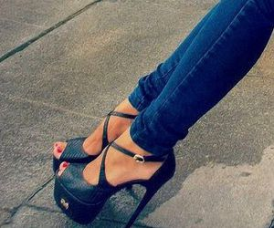 heels, sexy, and shoes image