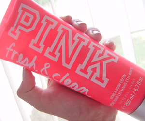 pink, Victoria's Secret, and body lotion image