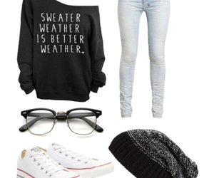 hipster, nerdy, and outfit image