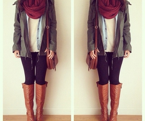 outfit, style, and scarf image