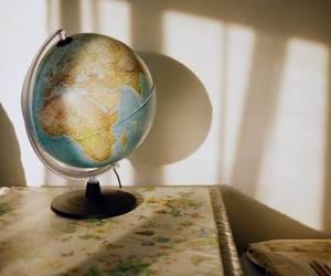globe, light, and sun image