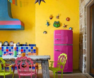 kitchen, colorful, and colors image