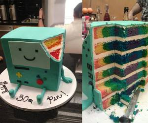 cake, adventure time, and bmo image