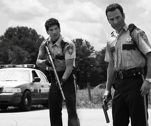 the walking dead, rick, and shane image