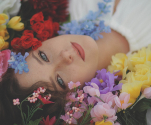 flowers, makeup, and acting image