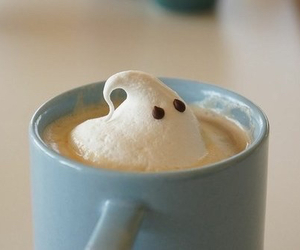 ghost, coffee, and hot chocolate image