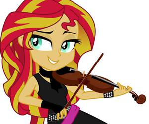 my little pony, violin, and cute image