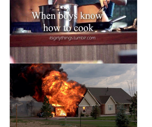 boys, cooking, and funny image