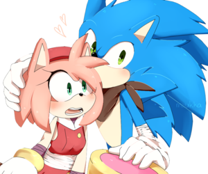 amy, sonic, and sonic boom image
