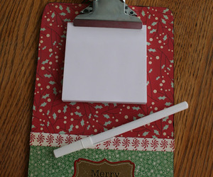christmas, clipboard, and decorate image