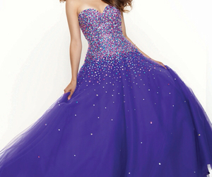 dress, purple, and gown image
