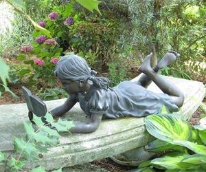 art, books, and garden image