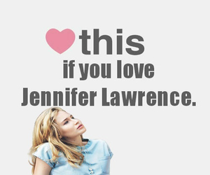 Jennifer Lawrence, heart, and the hunger games image