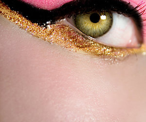 cat eye, make up, and makeup image