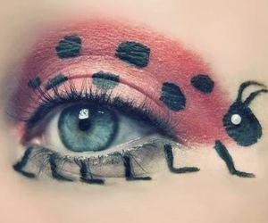 eye, ladybug, and eyes image