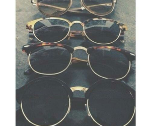 glasses, sunglasses, and vintage image