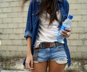 fashion, girl, and water image