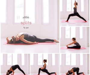 yoga, fit, and split image