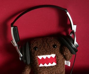 music, domo, and red image