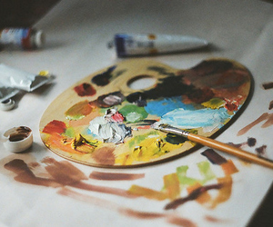 colours and painting image