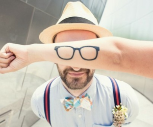 glasses, tattoo, and boy image
