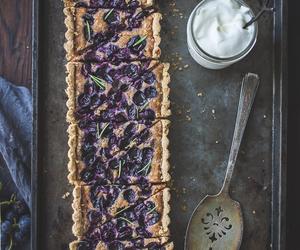food, tart, and grape image