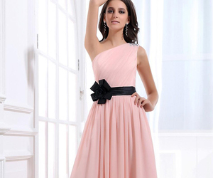 dress, pink, and bridesmaid dress image