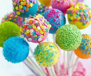 cake, cake pops, and colorful image