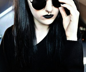 black, pale skin, and site model image