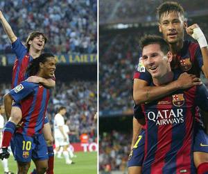 messi, neymar, and Barca image
