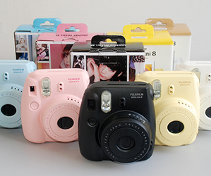 instax, black, and blue image