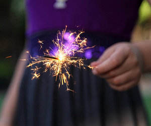 light, fireworks, and dress image