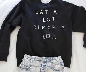 fashion, sleep, and outfit image