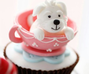 cupcake, puppy, and sweet image
