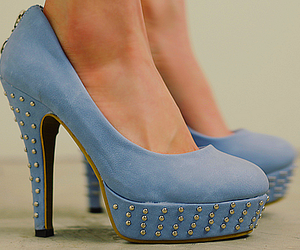 blue, tachas, and heels image