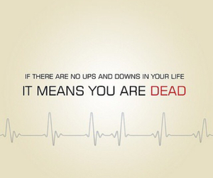 life, dead, and down image